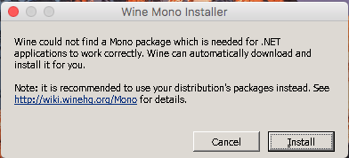 Setting up Wine on macOS (High) Sierra to run Four Winds Mah Jong