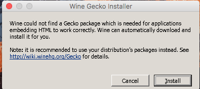 Setting up Wine on macOS (High) Sierra to run Four Winds Mah